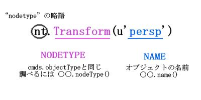 pymel nodetype